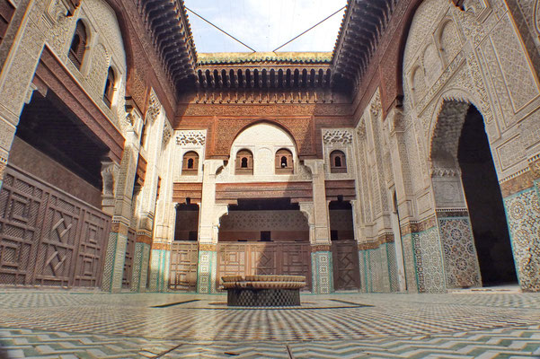 De medersa (koranschool) van Meknès