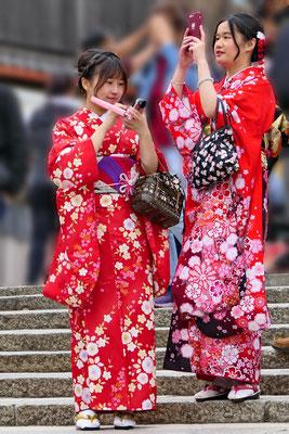 Chinese toeristen verkleden zich graag als Japanse.