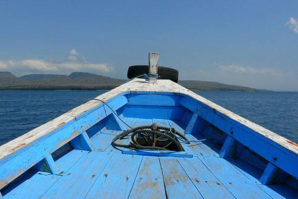 Op de boot bij Bali