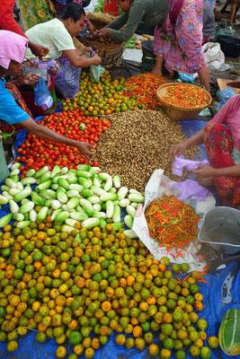 De markt op Lombok