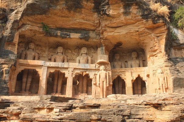 Jain beelden bij Gwalior