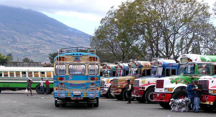 Het busstation van Antigua