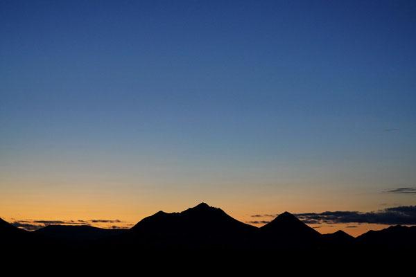 Zonsondergang in Möðrudalur