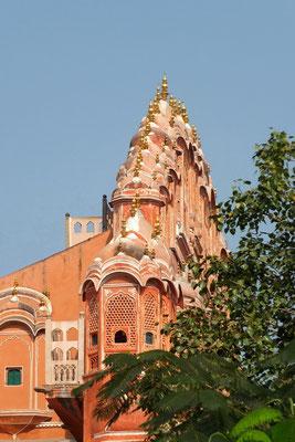De zijkant van de Hawa Mahal in Jajpur