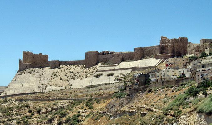 Al Karak, een kasteel uit de tijd van de kruistochten.