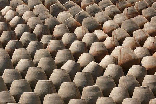 Op het pottenbakkersplein in Bhaktapur