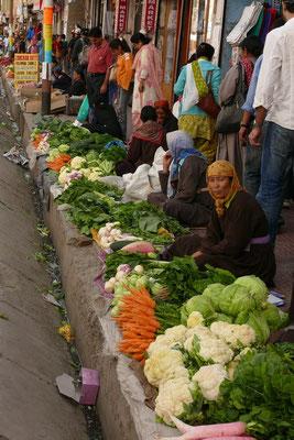 De groentemarkt in Leh