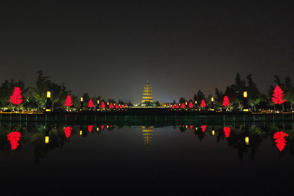 De grote wilde gans pagode