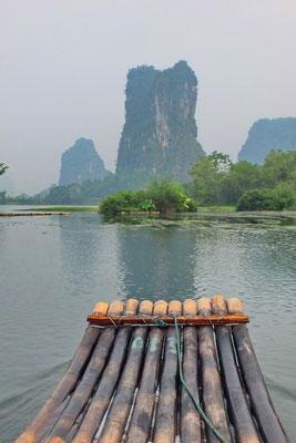 Bambooraften op de Li-rivier
