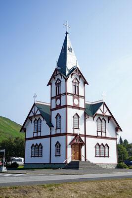 De kerk van Husavik