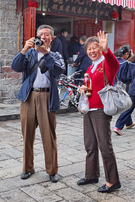 Toeristen in Dali