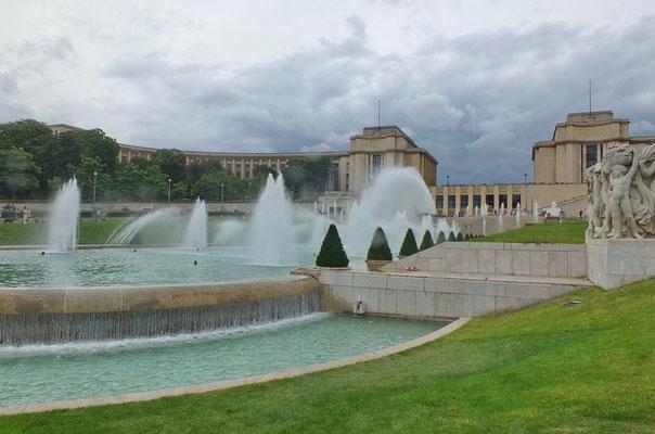 De fonteinen van het Trocadero