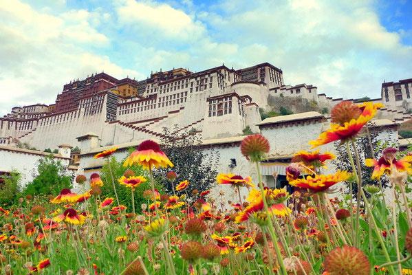 De Potala; het winterpaleis van de Dalai Lama