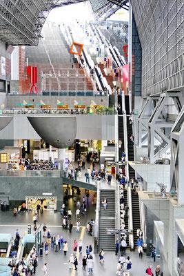 Het centraal station van Kyoto. 11 etages hoog!