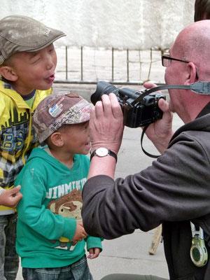 De fotograaf in aktie