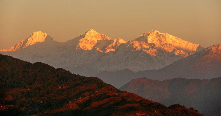 Himalay sunrise vanuit Nagarkot.