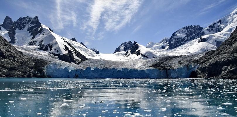 Gletsjer in de Drygalski fjord