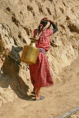 20 liter water aan je hoofd..bikkels.
