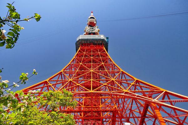 Tokio tower. Lijkt op de Eiffeltoren, maar is 33 meter hoger.