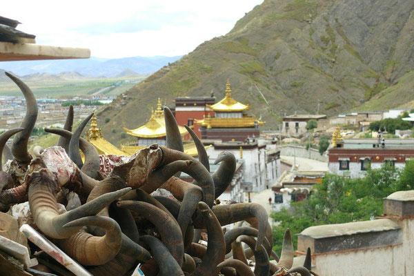 Het Tashilunpo klooster in Shigatse