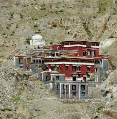 Het klooster in Sakya