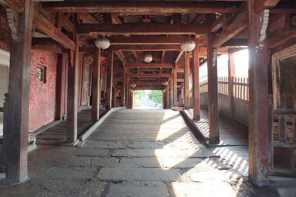 De binnenkant van de Japanse brug