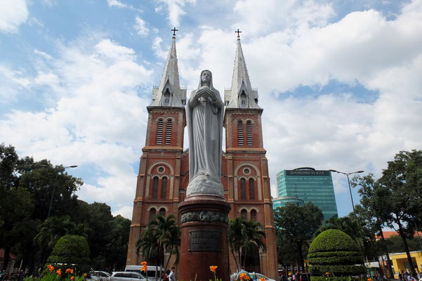 De Notre Dame kathedraal in Saigon