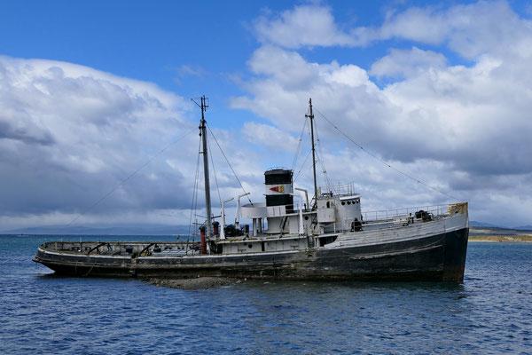 Gestrand schip bij Ushuaia