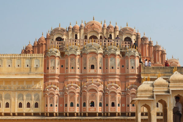 De achterkant van de Hawa Mahal in Jajpur