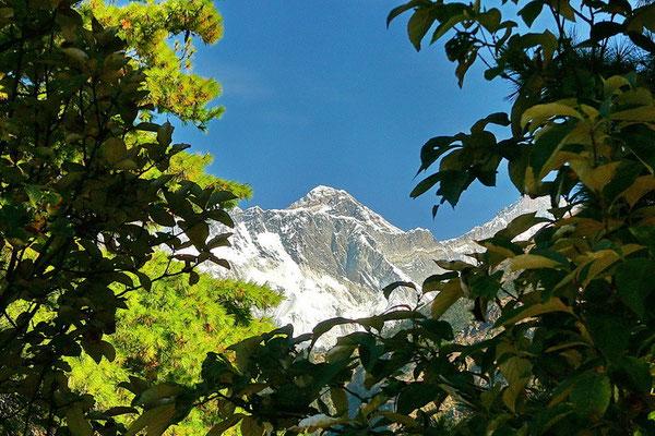 De laatste blik op Mount Everest.