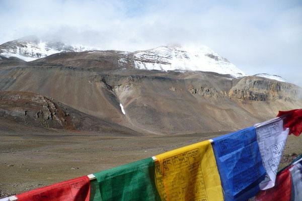 Lachung La op 5065 m. hoogte