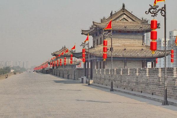 De stadsmuur van Xi'an