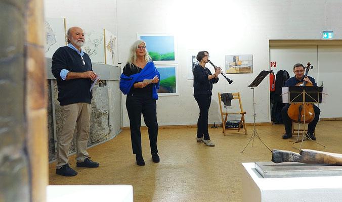 Franz Raßl, Renate Ziegler, Susanne Kolb/Klarinette und Arian Teuffel/Cello