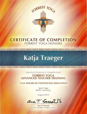 Certificate Advanced FY Teacher Training