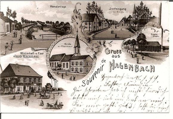 1899 Vues du village