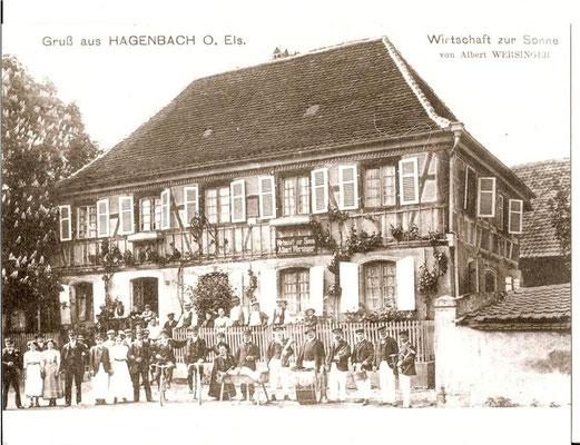 1900 Kilbe devant le café Wersinger