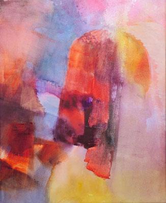 Pénélope, aquarelle sur papier montée sur châssis, 50x40cm