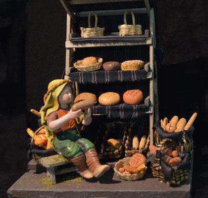 Broodkraam kerststaldiorama