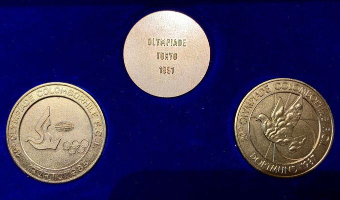 Medaillen zu den Olympiaden in Porto, Tokio und Dortmund