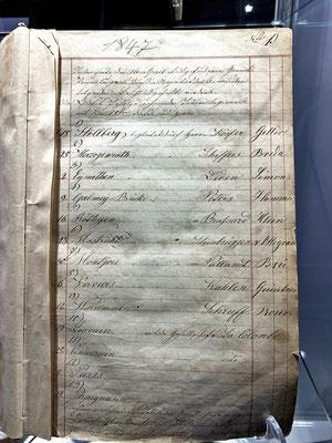 Das älteste Dokument im deutschen Brieftaubenwesen - Protokollbuch aus 1847 des Vereins L`Union Aachen