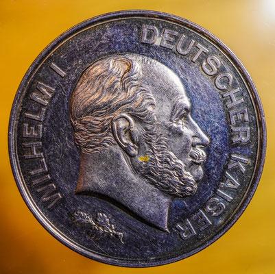 Medaille zum 100. Geburtstag von Kaiser Wilhelm I. aus dem Jahr 1897