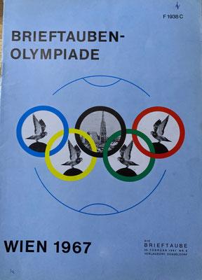 Ausgabe der Brieftaube zur Olympiade in Wien 1967
