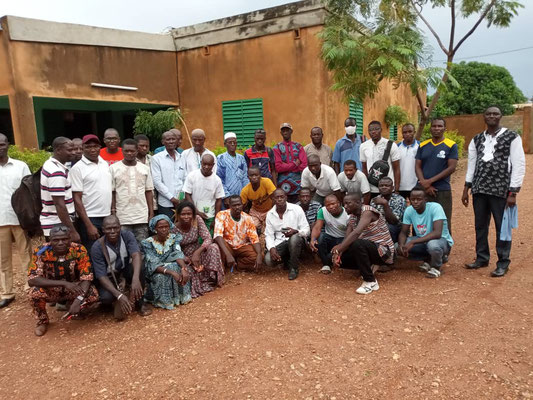 Photographie des participants à la formation