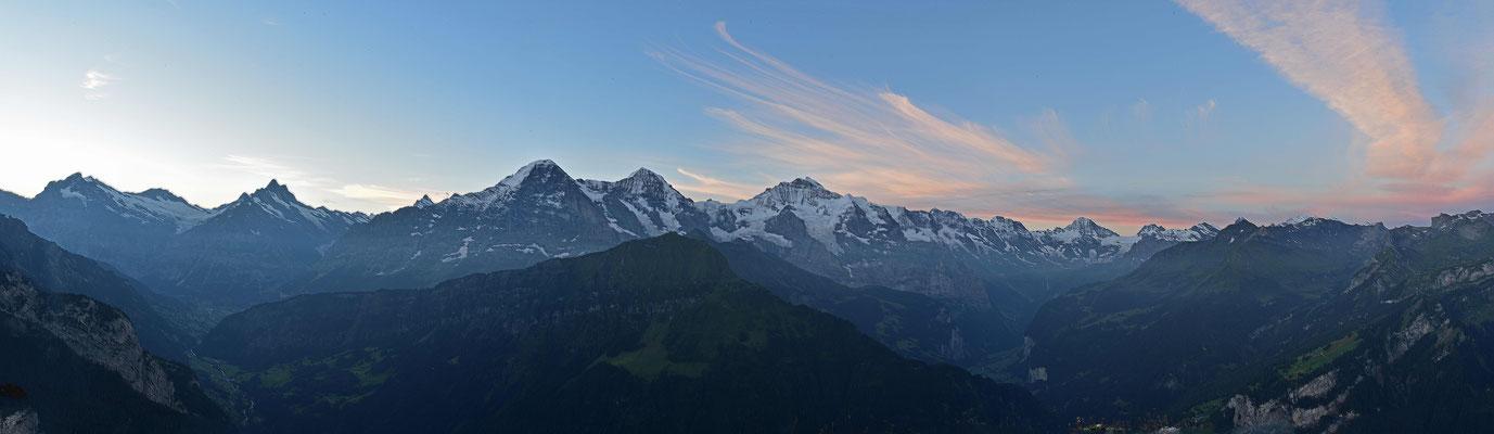 Panorama am frühen Morgen