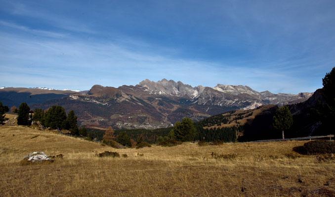 Das Grödner Tal mit St. Christina und den Geislerspitzen