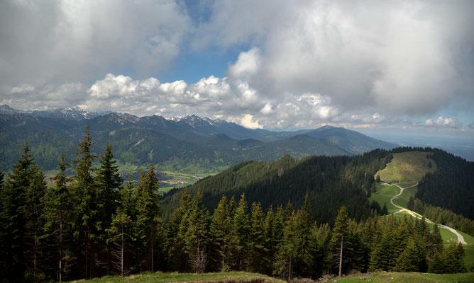 Blick nach Oberammergau
