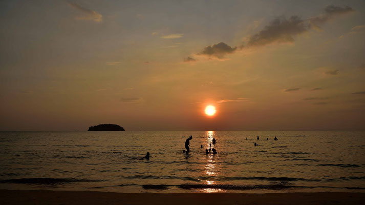 Sunrise on the Beach from Cambodia