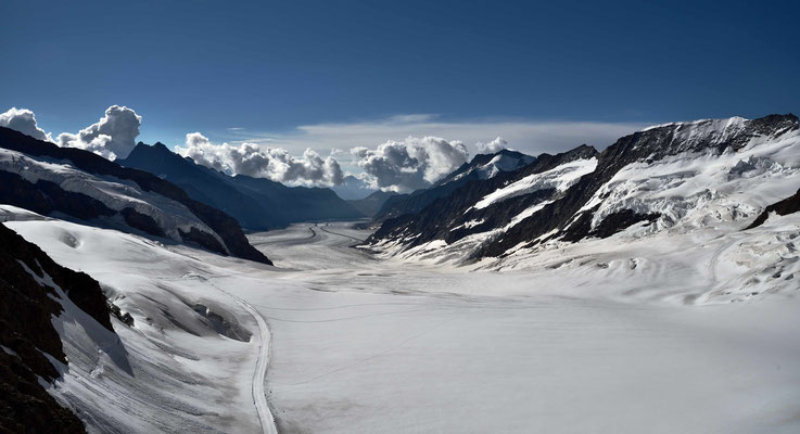Der riesige Aletschgletscher