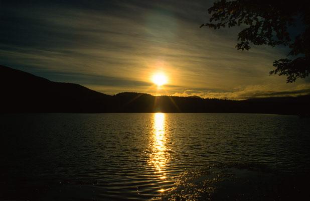 """In der Nähe von Coyhaique liegt ein schönes Naturreservat. Hier kann man an der """" Laguna Verde"""" campen."""