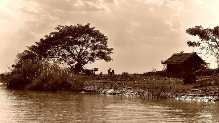 Monochrome Landschaft am Sangker